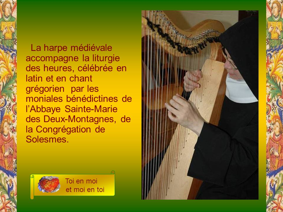 Depuis trois millénaires, on reconnaît à la harpe, cet instrument de David, le charisme de calmer, dintérioriser.