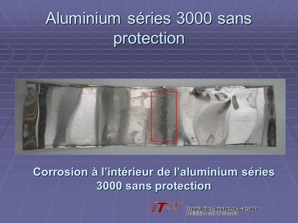 Aluminium séries 3000 sans protection Corrosion à lintérieur de laluminium séries 3000 sans protection