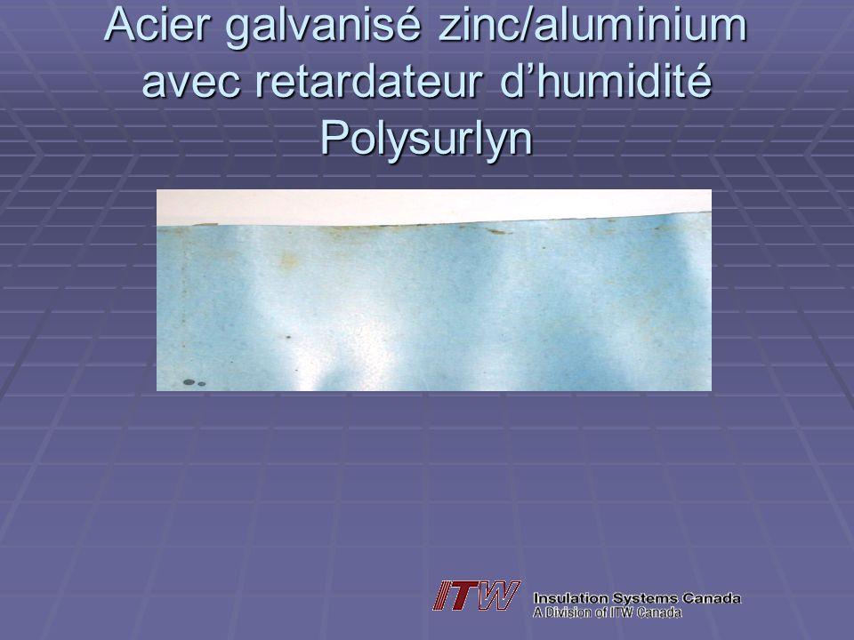 Acier galvanisé zinc/aluminium avec retardateur dhumidité Polysurlyn
