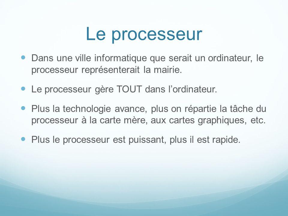 Types de processeurs AMD Phenom, Athlon, Opteron, Sempron.