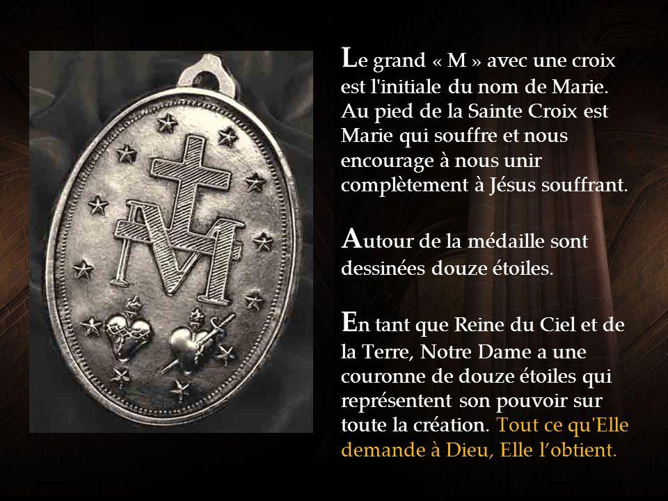 Au revers de la Médaille Miraculeuse
