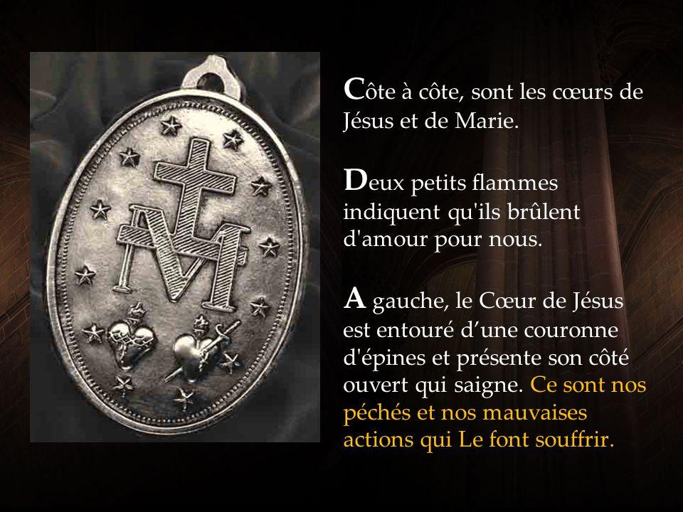 L e grand « M » avec une croix est l initiale du nom de Marie.