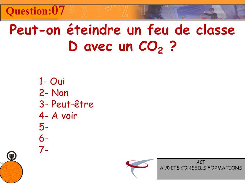 Peut-on éteindre un feu de classe D avec un CO 2 .