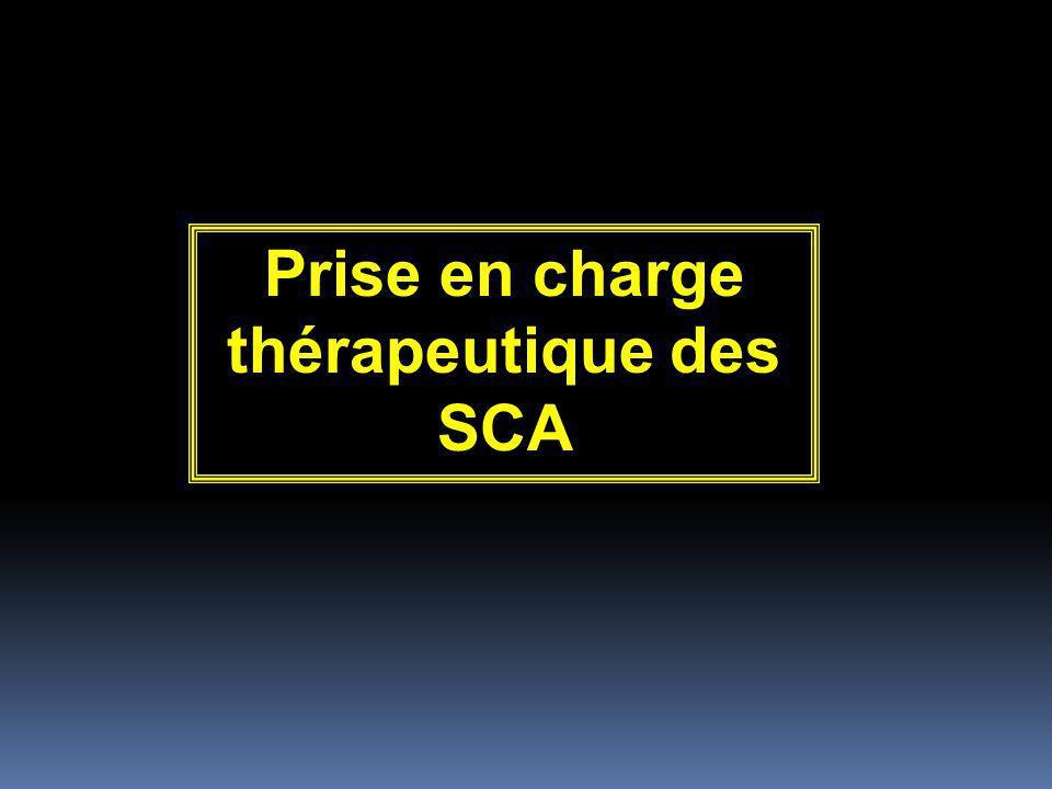 Prise en charge thérapeutique des SCA