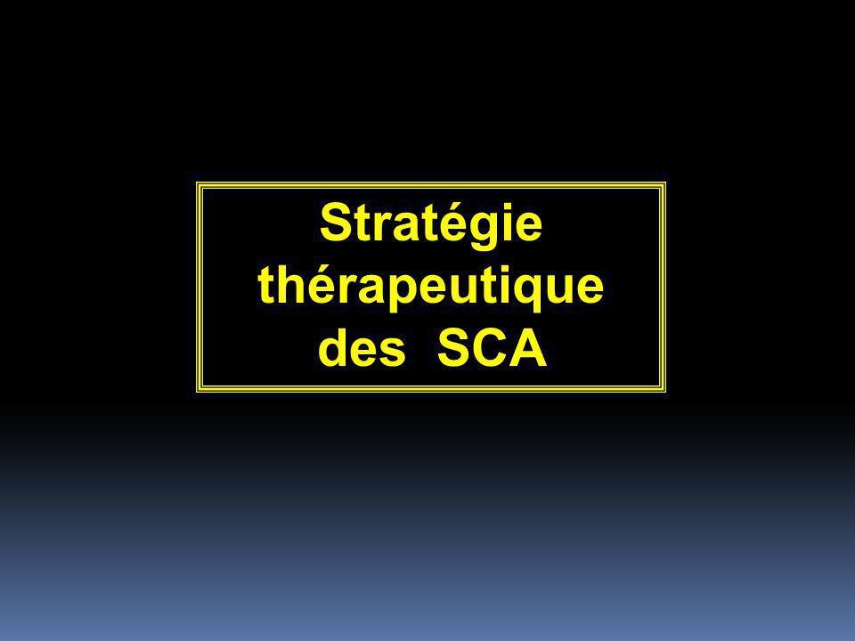 Stratégie thérapeutique des SCA