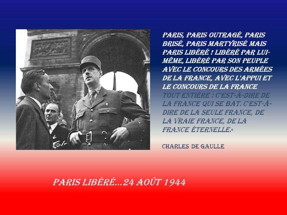 Charles De Gaulle 22 avril 1944 Reconnu officiellement par les alliés 3-10-1944 Charles De Gaulle À Ottawa en 1944