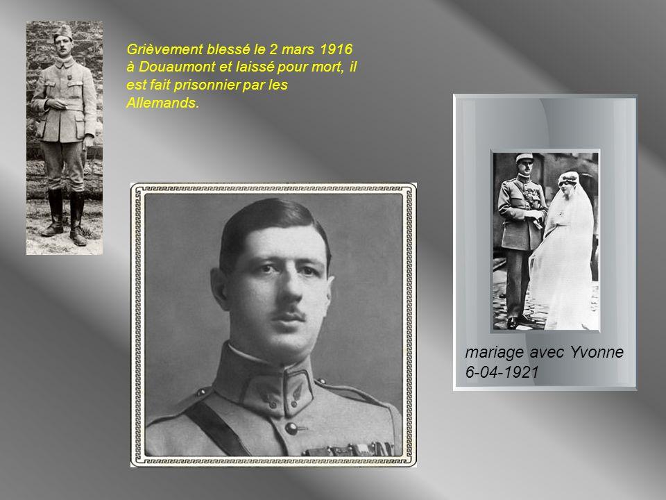 Grièvement blessé le 2 mars 1916 à Douaumont et laissé pour mort, il est fait prisonnier par les Allemands.