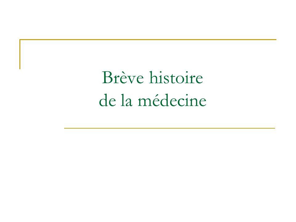 Brève histoire de la médecine