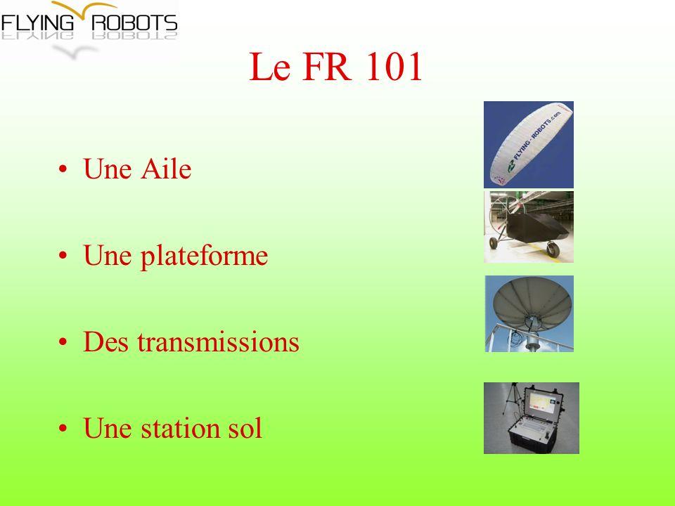 Le FR 101 Une Aile Une plateforme Des transmissions Une station sol