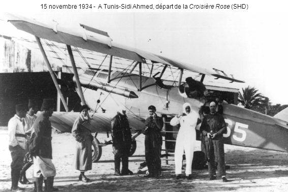 15 novembre 1934 - A Tunis-Sidi Ahmed, départ de la Croisière Rose (SHD)