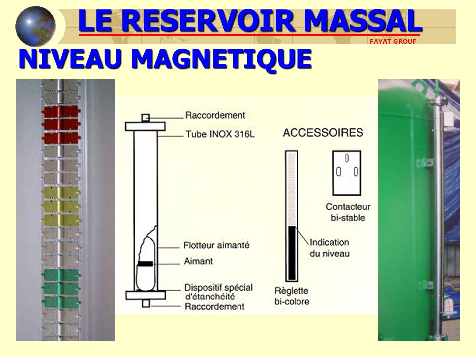 NIVEAU MAGNETIQUE LE RESERVOIR MASSAL FAYAT GROUP