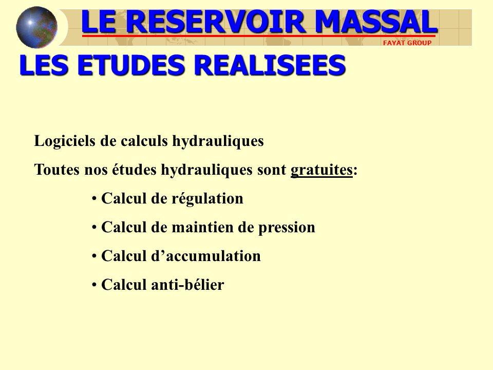 LES ETUDES REALISEES Logiciels de calculs hydrauliques Toutes nos études hydrauliques sont gratuites: Calcul de régulation Calcul de maintien de press