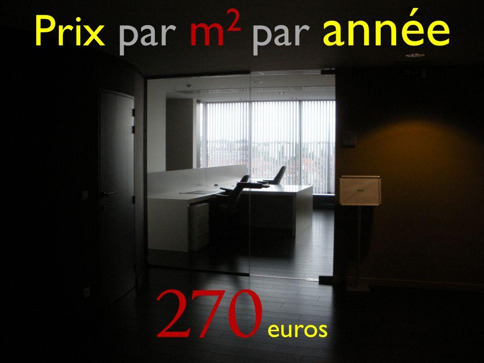 Prix par m 2 par année 270 euros