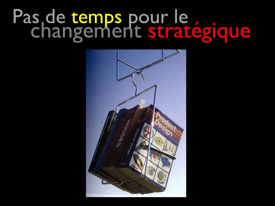 Pas de temps pour le changement stratégique