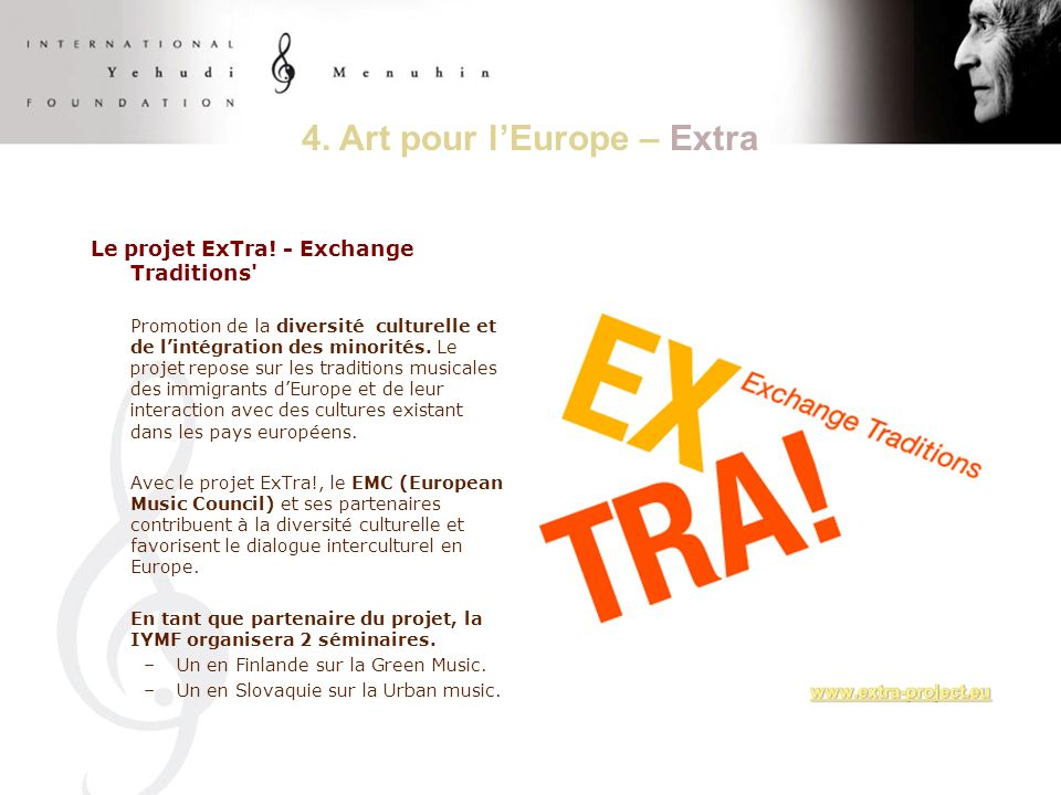 Le projet ExTra.