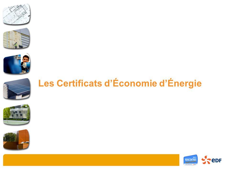 Les Certificats dÉconomie dÉnergie