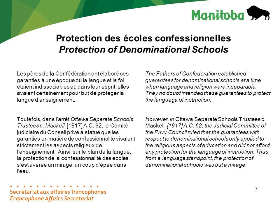 38 Coordonnées Contact Information Secrétariat aux affaires francophones Palais législatif, bureau 46 Winnipeg (Manitoba) R3C 0V8 Téléphone : 204-945-4915 Sans frais : 1-866-267-6114 Télécopieur : 204-948-2015 C.
