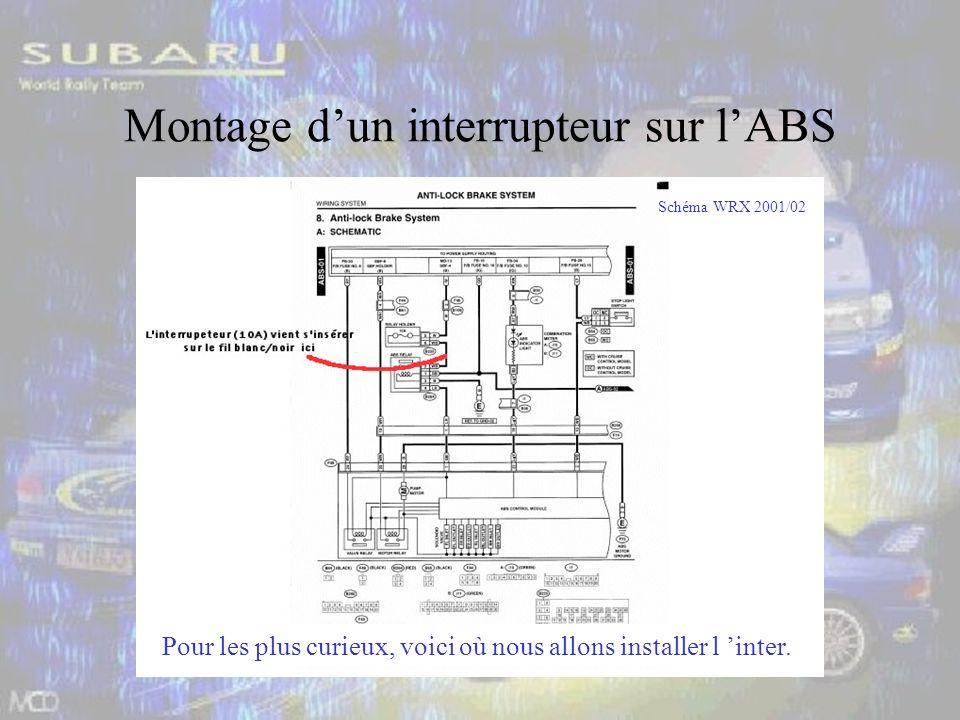 Montage dun interrupteur sur lABS Pour les plus curieux, voici où nous allons installer l inter.