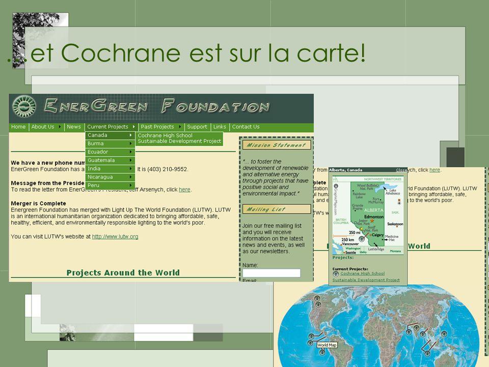 …et Cochrane est sur la carte!