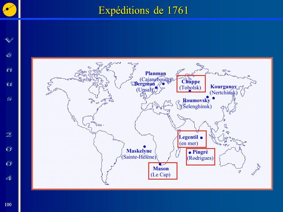 100 Expéditions de 1761