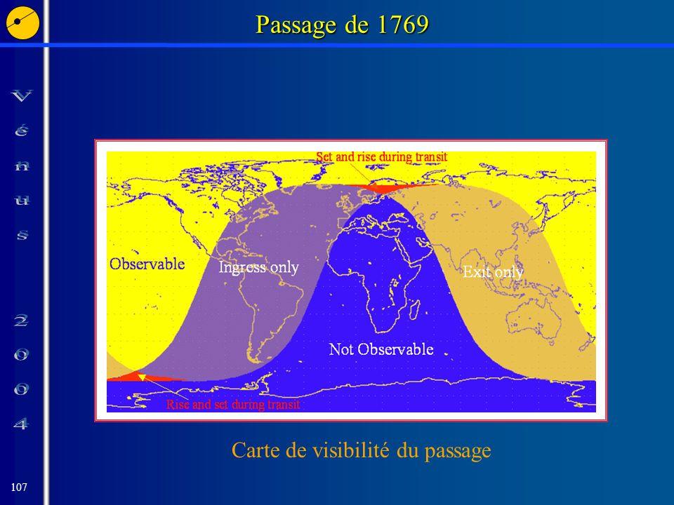 107 Passage de 1769 Carte de visibilité du passage