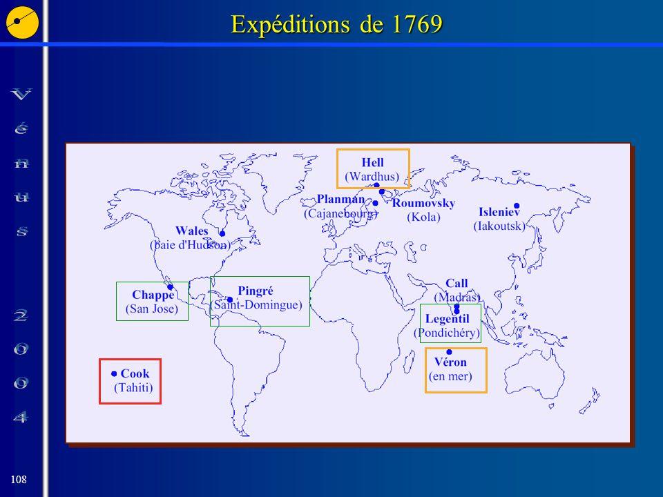 108 Expéditions de 1769