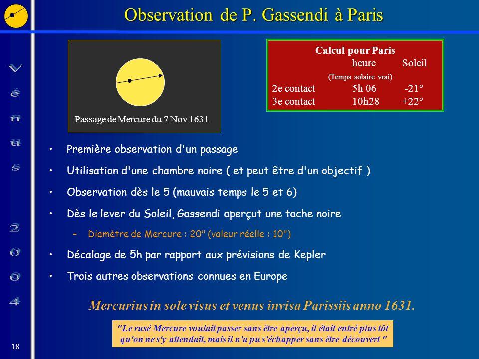 18 Observation de P.