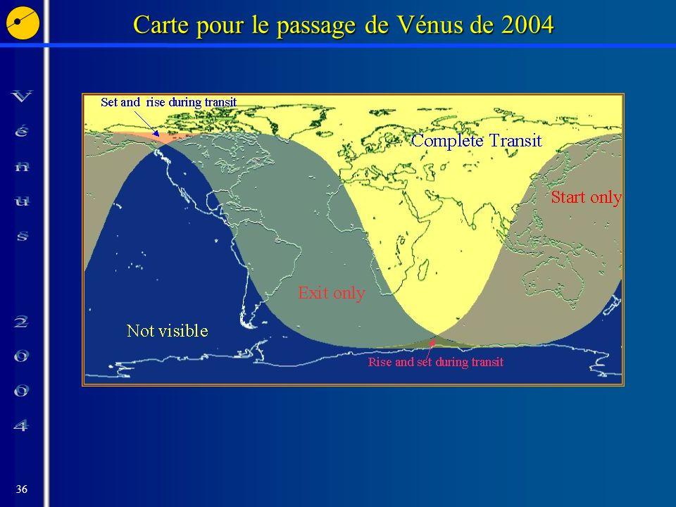 36 Carte pour le passage de Vénus de 2004