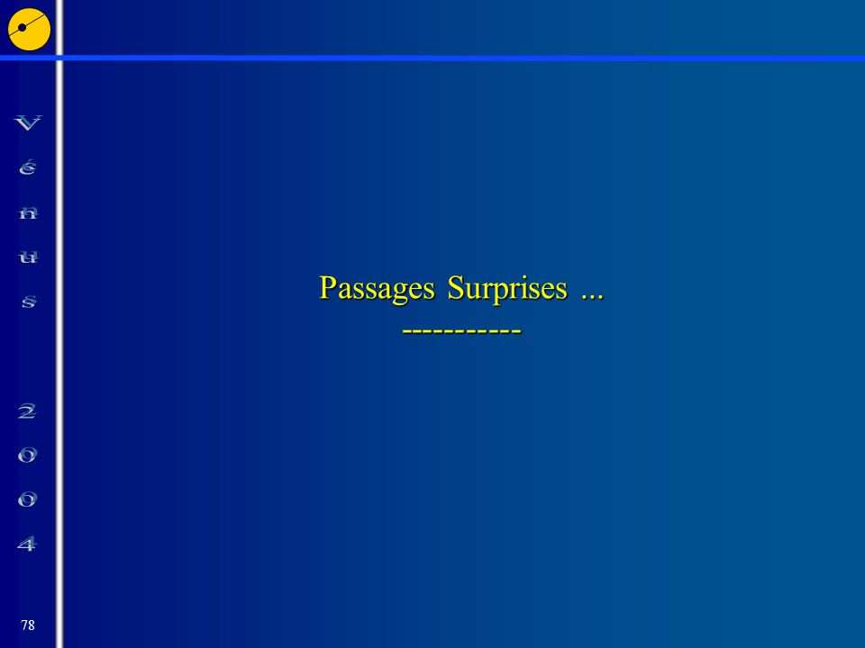 78 Passages Surprises... -----------