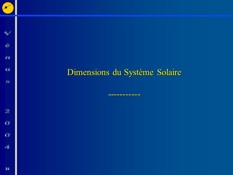 84 Dimensions du Système Solaire -----------