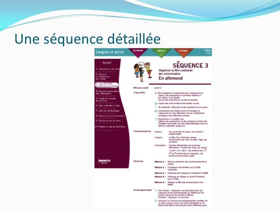 Une séquence détaillée