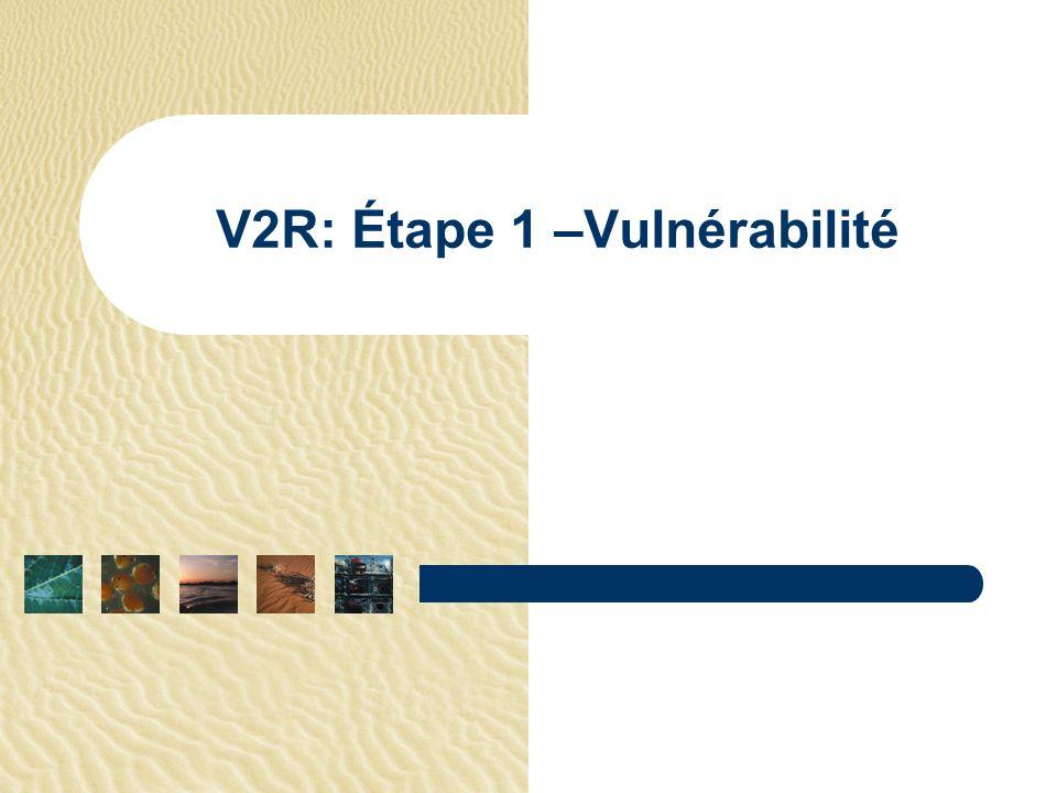 V2R: Étape 1 –Vulnérabilité