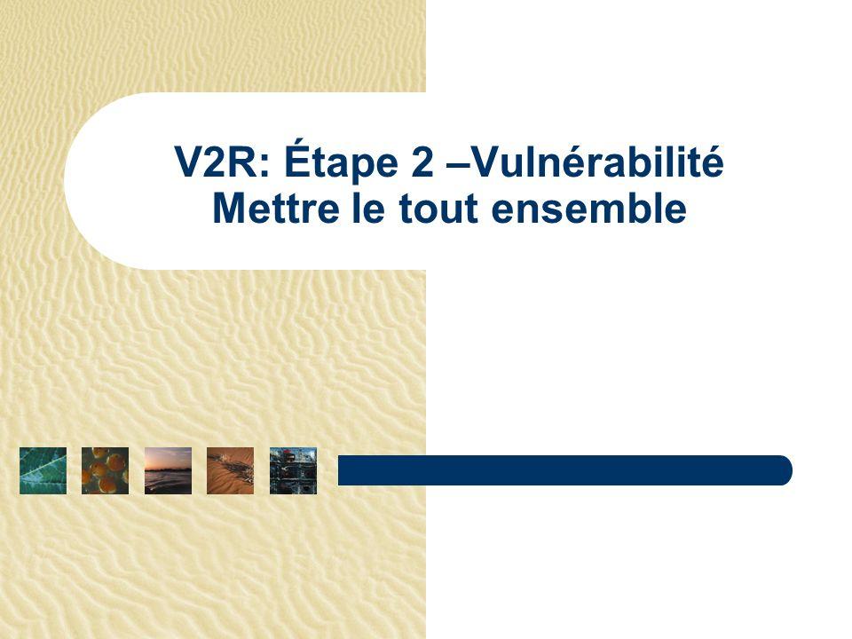 V2R: Étape 2 –Vulnérabilité Mettre le tout ensemble
