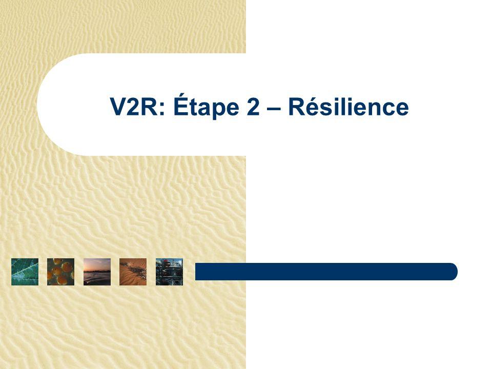 V2R: Étape 2 – Résilience