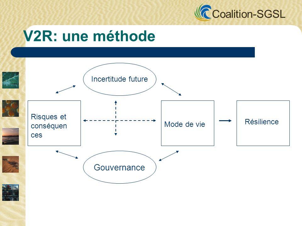 Coalition-SGSL Faire un pas à la fois Renforcer la résilience est un casse tête.