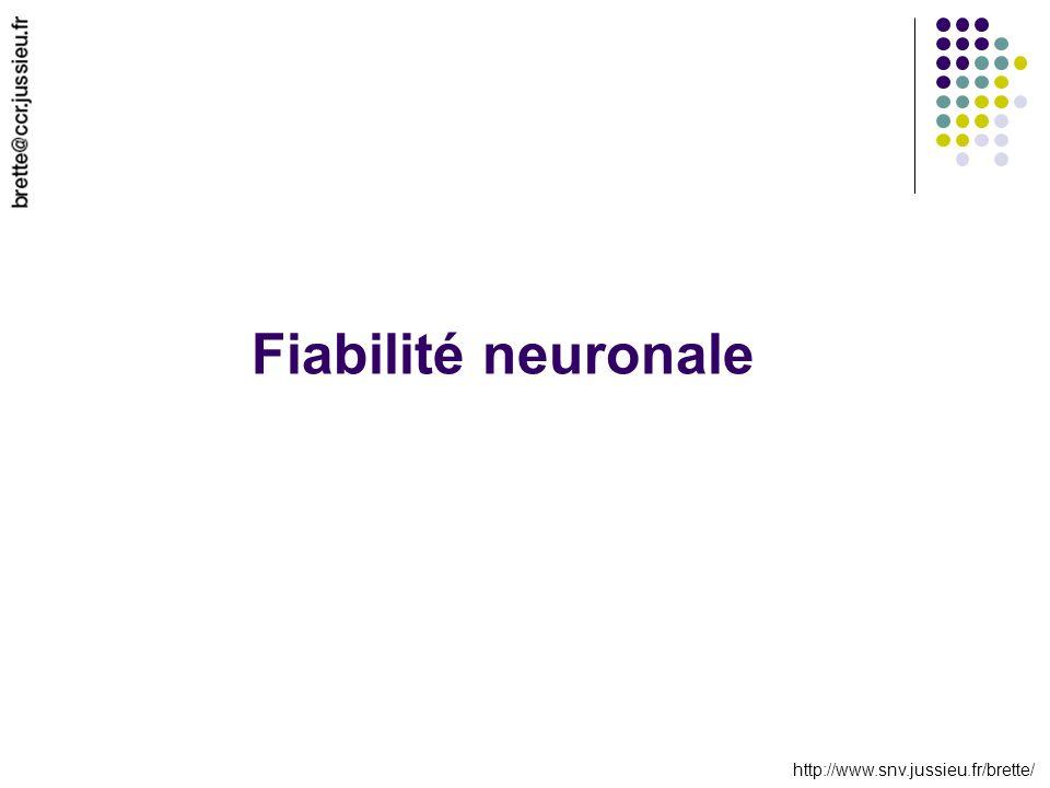 http://www.snv.jussieu.fr/brette/ Fiabilité neuronale