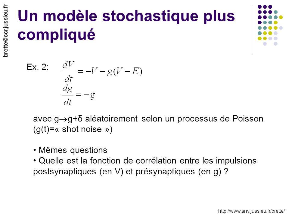 http://www.snv.jussieu.fr/brette/ Un modèle stochastique plus compliqué Ex.