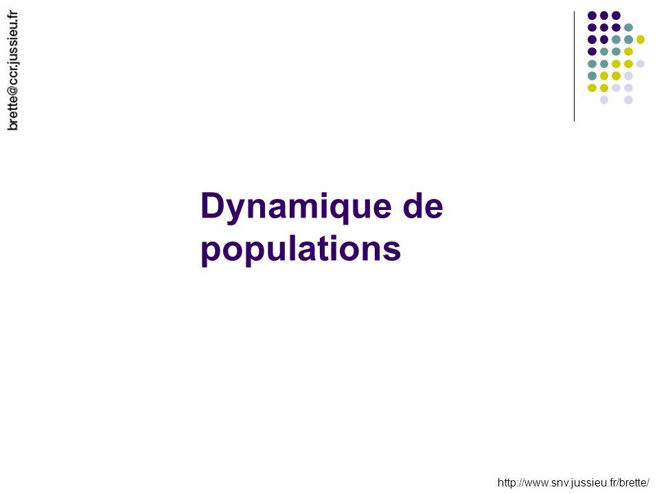 http://www.snv.jussieu.fr/brette/ Dynamique de populations
