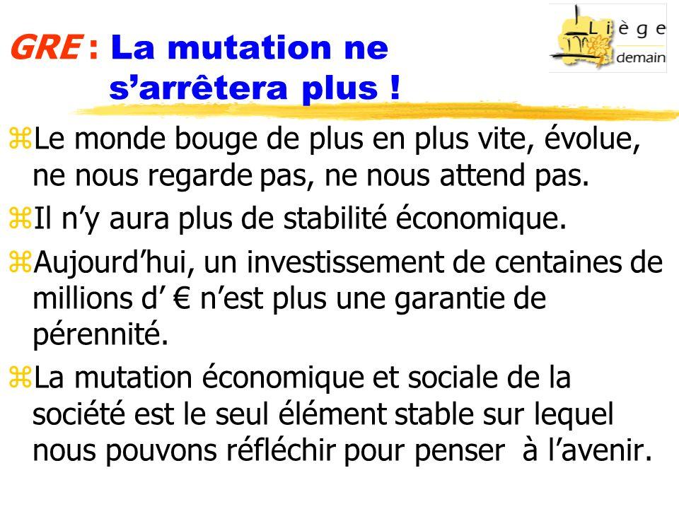 GRE : La mutation ne sarrêtera plus .