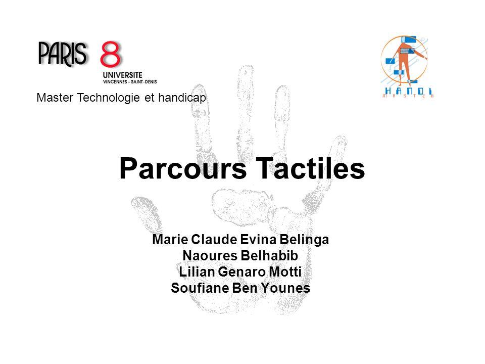Parcours Tactiles Marie Claude Evina Belinga Naoures Belhabib Lilian Genaro Motti Soufiane Ben Younes Master Technologie et handicap