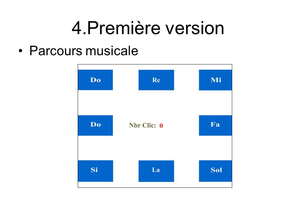 4.Première version Parcours musicale
