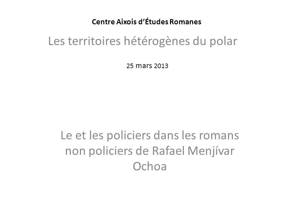 Plan Présentation du Salvador et de lauteur (biographie succincte) Les romans policiers La présence policière dans lœuvre non-policière Conclusion