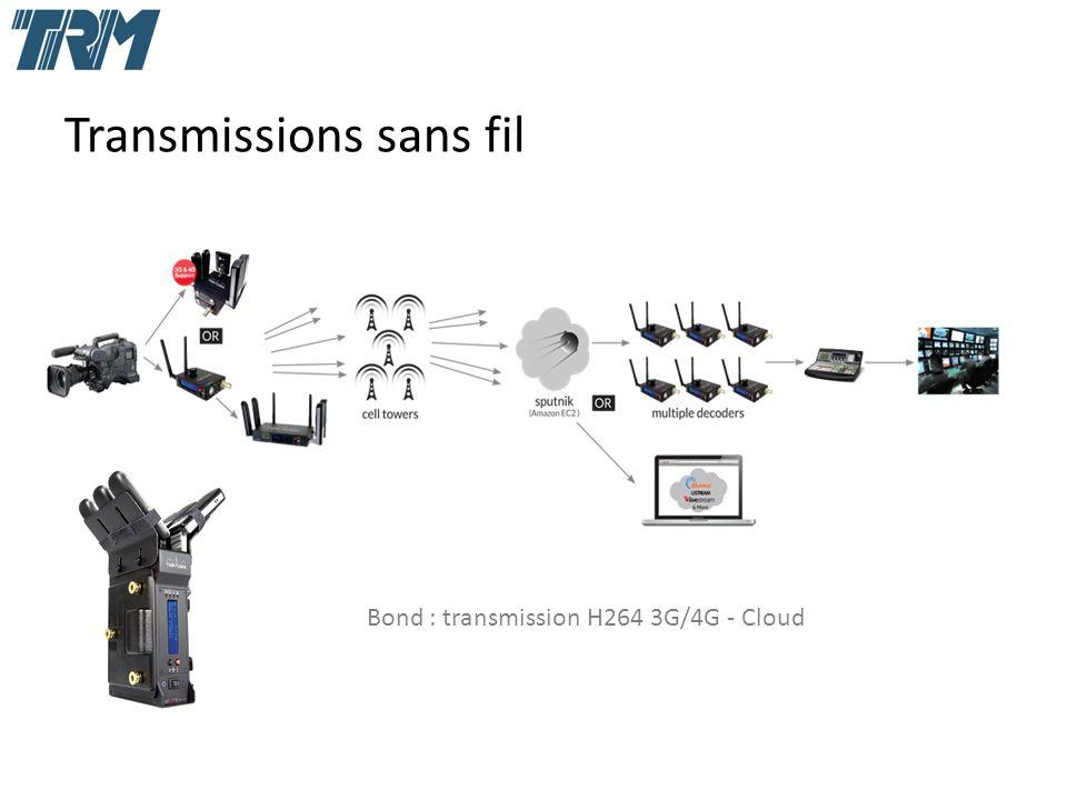 Transmissions sans fil Bond : transmission H264 3G/4G - Cloud