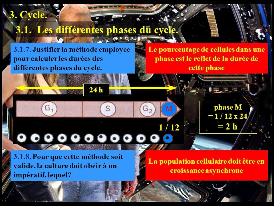 3.1.7 3.1.7. Justifier la méthode employée pour calculer les durées des différentes phases du cycle. 3. Cycle. 3.1. Les différentes phases du cycle. L