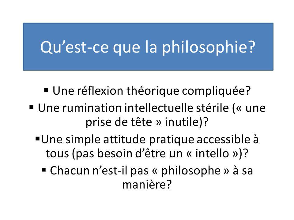 Quest-ce que la philosophie. Une réflexion théorique compliquée.