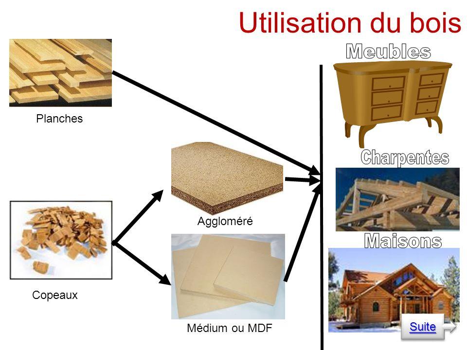 Aggloméré Médium ou MDF Planches Copeaux Utilisation du bois Suite