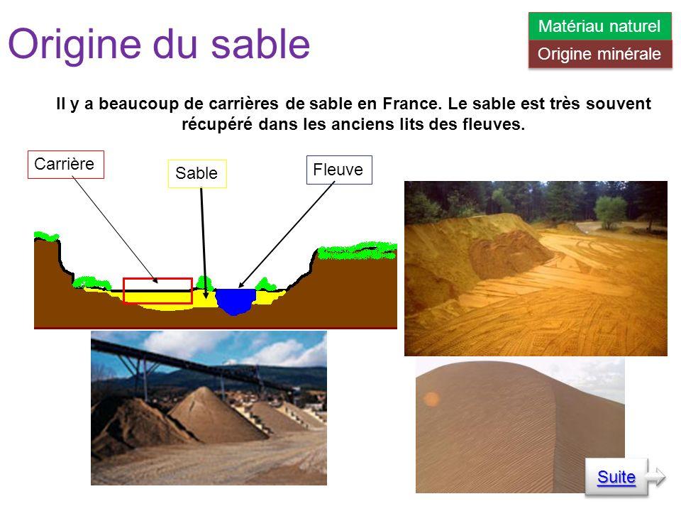 Il y a beaucoup de carrières de sable en France.