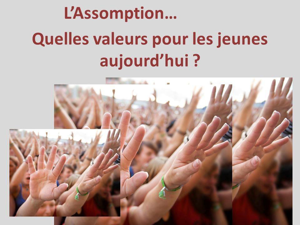 LAssomption… Quelles valeurs pour les jeunes aujourdhui