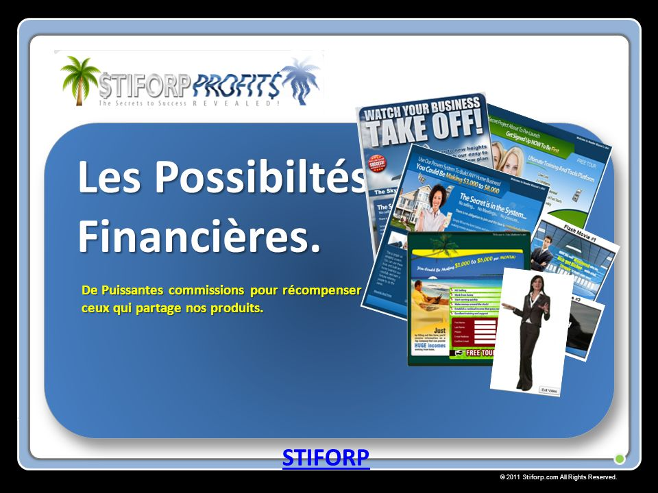 © 2011 Stiforp.com All Rights Reserved.Les Possibiltész Financières.