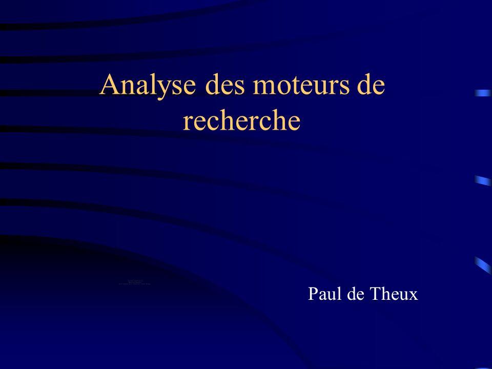 Analyse des moteurs de recherche Paul de Theux